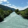 Le fleuve après 10 kilomètres, dans la vallée de l'Obergom