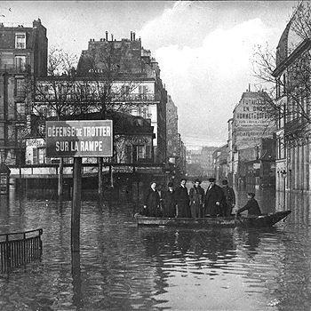 en janvier 1910, paris s'est retrouvé sous l'eau pendant huit jours.