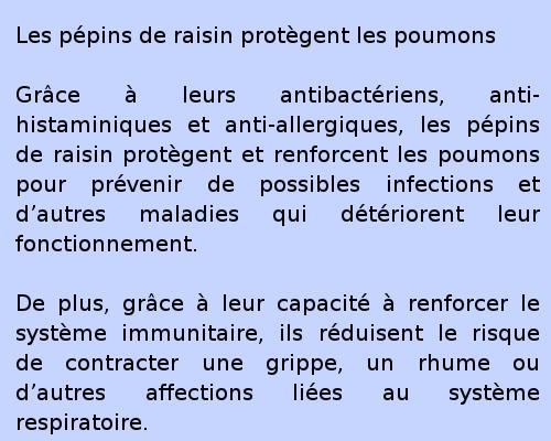 Les pépins de raisin et les maladies