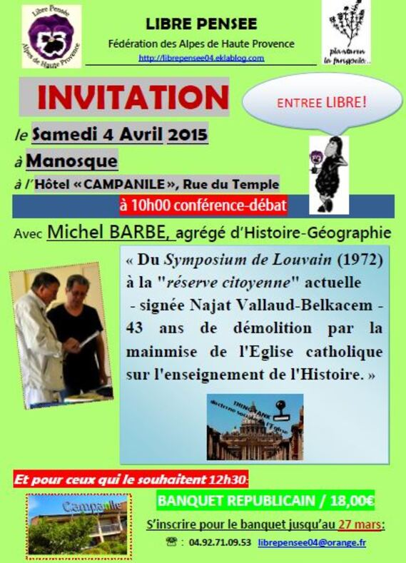 INVITATION CONFERENCE-DEBAT 25 04 2015 MANOSQUE