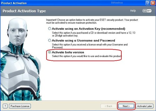 Eset Smart Scurity 6 Beta - Licence 4 mois gratuits