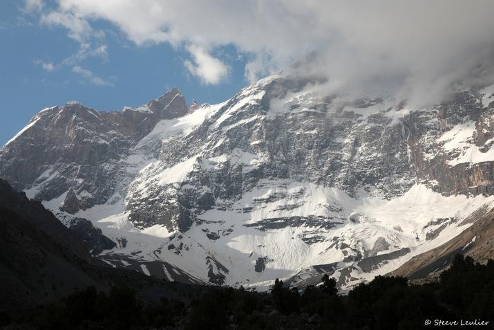 Panorama sur les glaciers environnants, Tadjikistan
