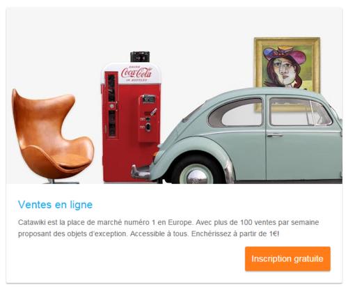 Catawiki est une plateforme de vente internationale pour objets exceptionnels