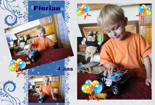 Cadeau d'anniversaire pour les 4 ans de Florian