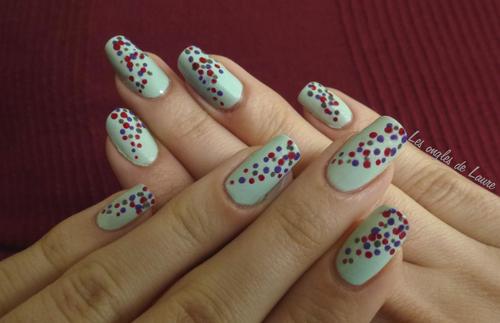 Nail Art touches de couleur