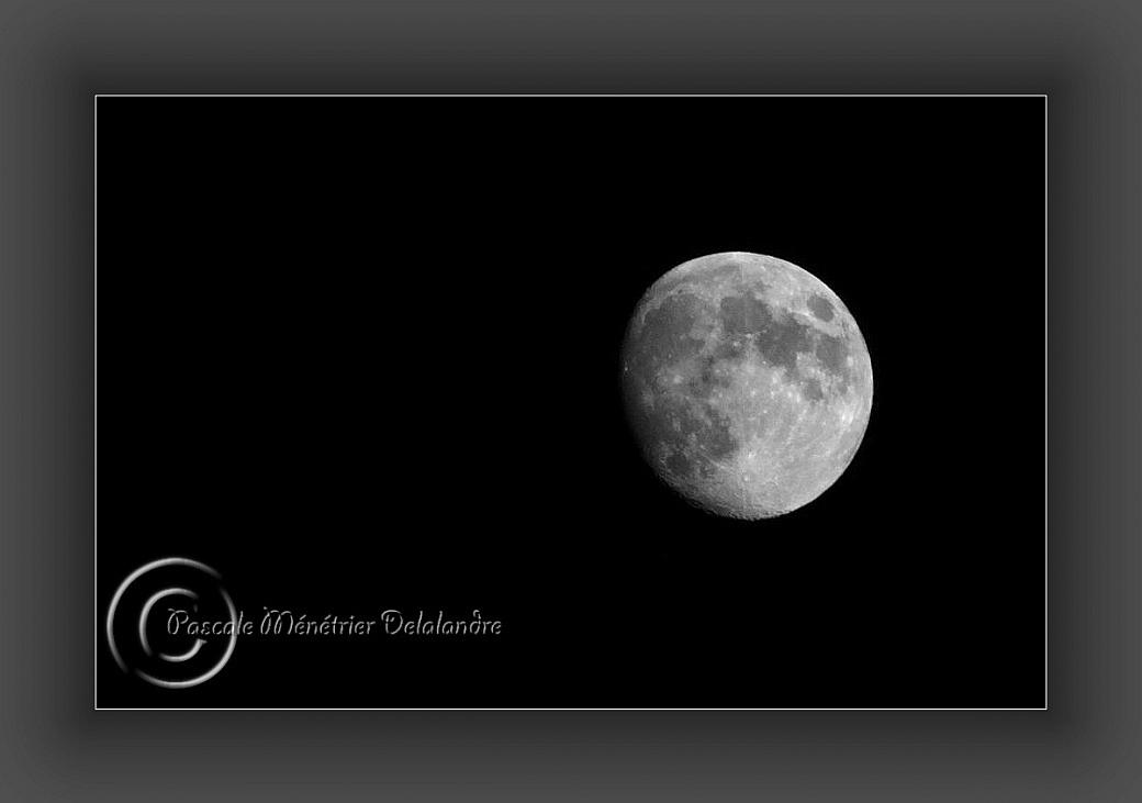 La lune cette nuit...