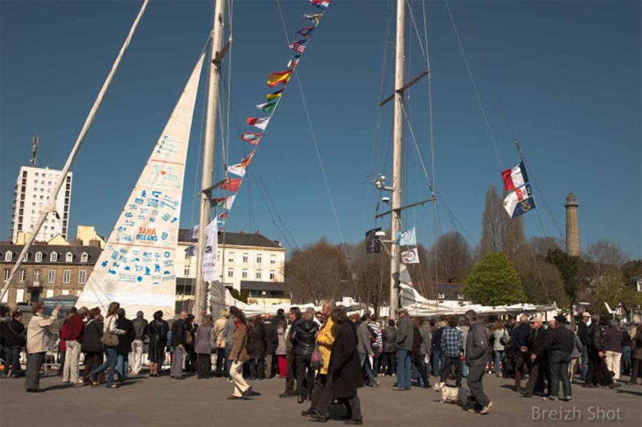 Tara Oceans au port de plaisance de Lorient - Mars 2012