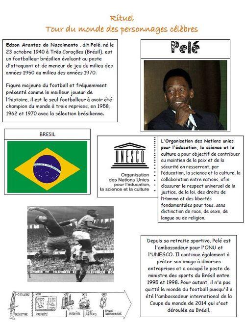 Tour du monde période 3 : Amérique du sud et Brésil