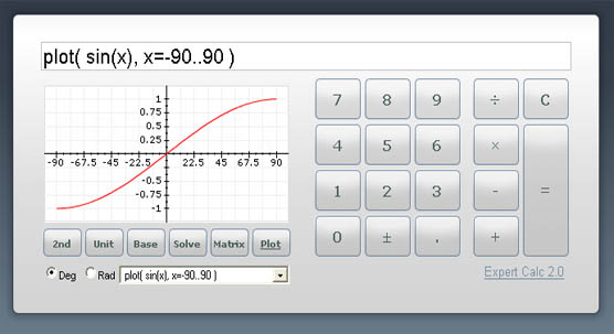 Easy to use online graphing calculator.