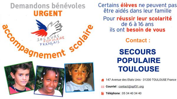 Bénévoles Urgent Accompagnement scolaire 6 - 16 ans