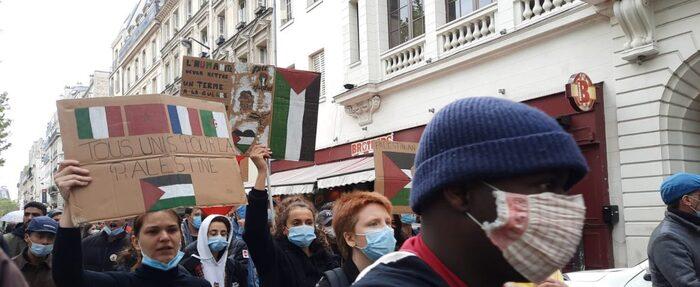 À Paris, une manifestation frustrée mais pacifique en soutien aux Palestiniens