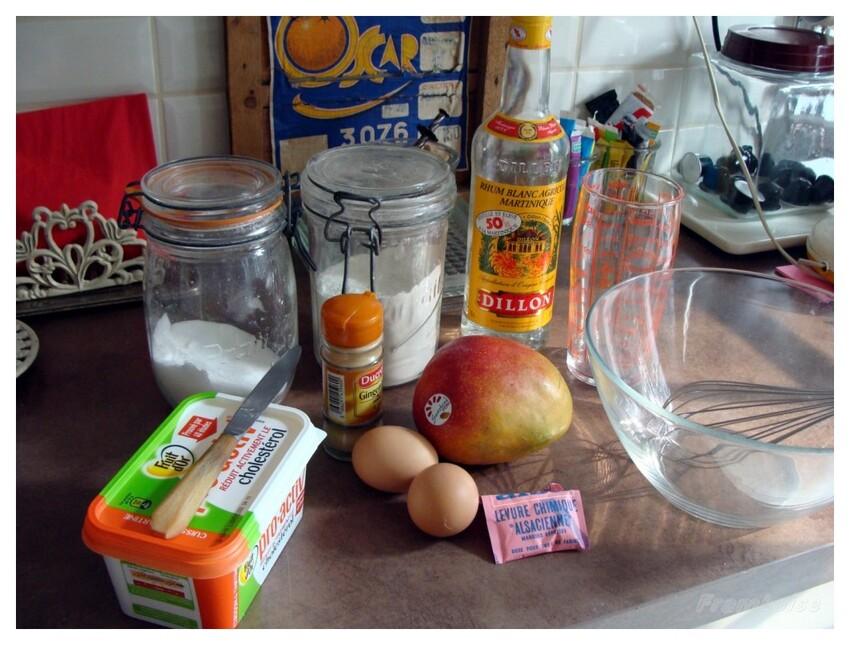 Gâteau moelleux à la Mangue
