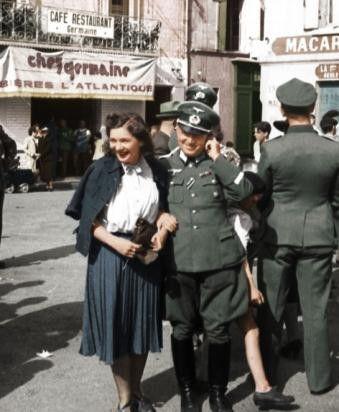 soldat allemand et une Française