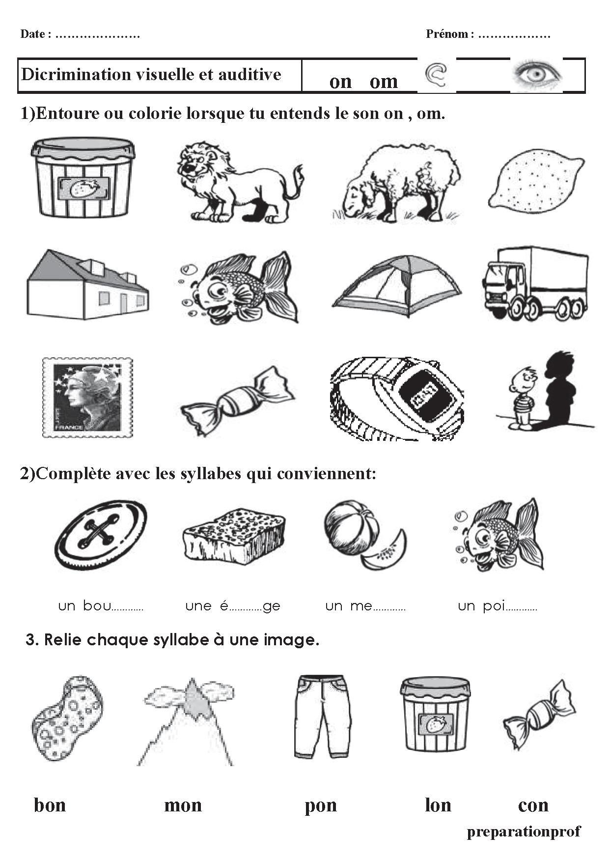 Coloriage Cp Syllabes.Sons Et Syllabes Exercices Cp Et Ce1 Discrimination