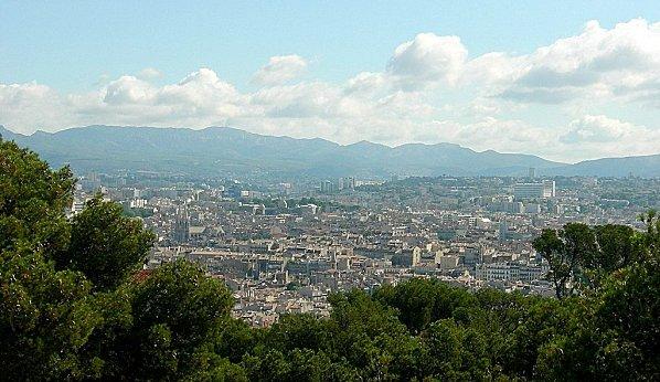 Marseille vue de la Vierge