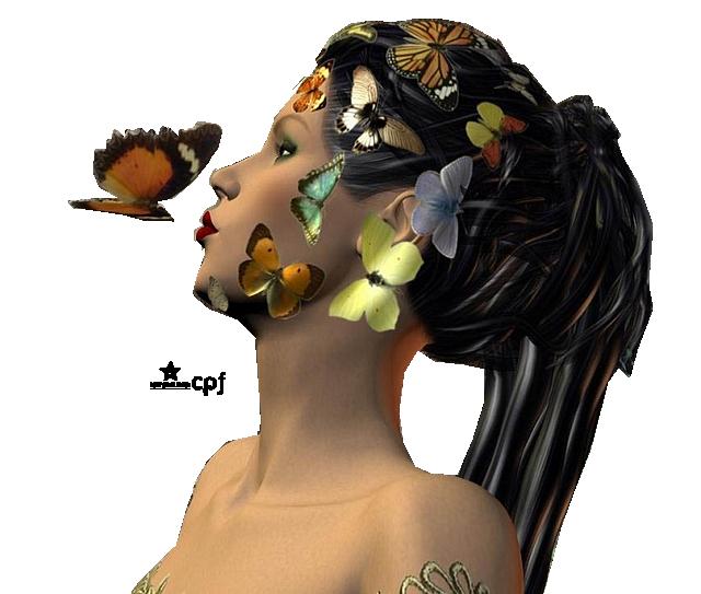 Tubes elfes et papillons
