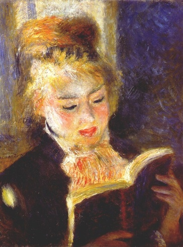 3- Femmes lisant- Peintures 19 eme