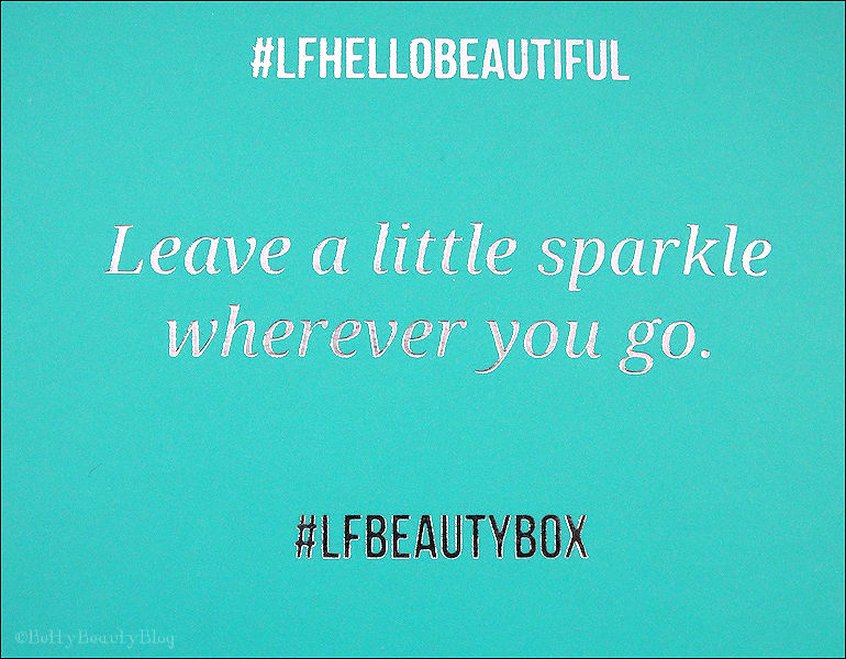 look fantastic box #LFHELLObeautiful