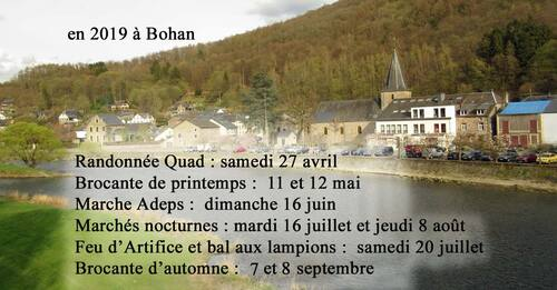 Dates des animations de Bohan