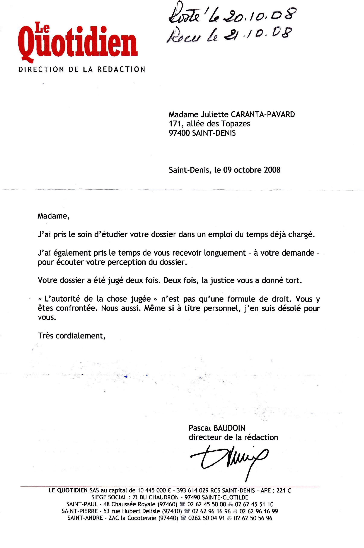 lettre baudion