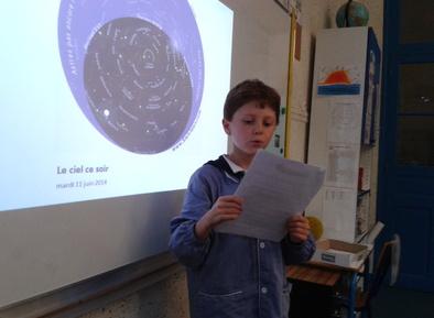Gaspard présente l'astronomie