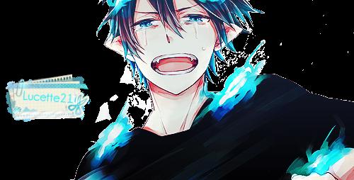 Render Ao no Exorcist - Renders Rin Okumura Exorcist bleu triste