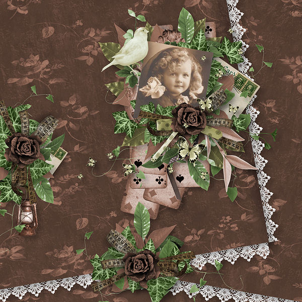 """Old Green"" de Xuxper Designs et Tifscrap"