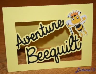 Aventure beequilt - juin - carte logo