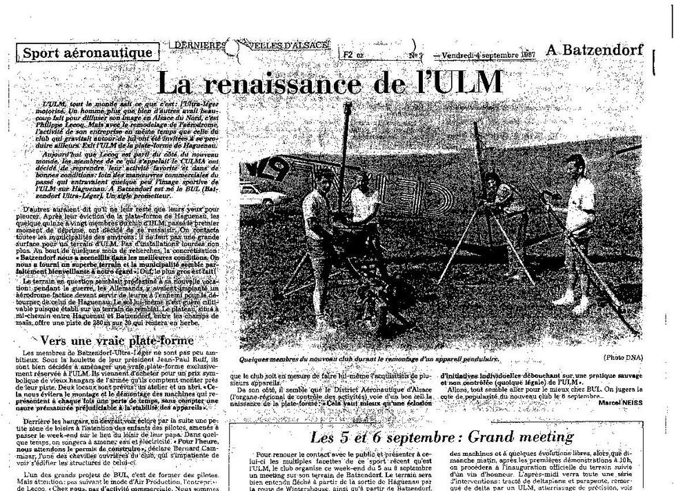 La renaissance de L'ULM