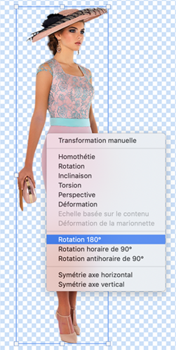 Transformation, redimensionnement calque, rotation