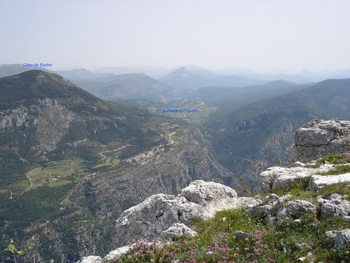 La Cime de Barbin vue depuis le sommet du Grand Margès