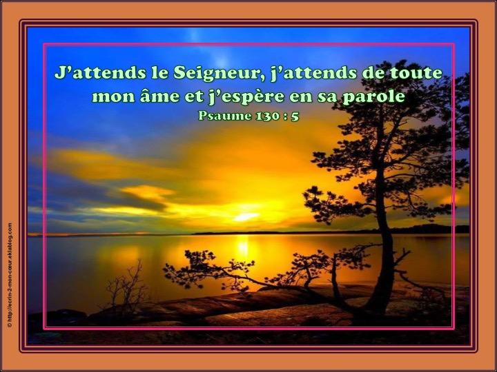 J'espère en sa parole - Psaumes 130 : 5
