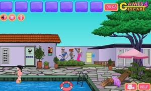 Jouer à Girls swimming pool escape