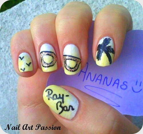 Nail art Ray-Ban (concours) !