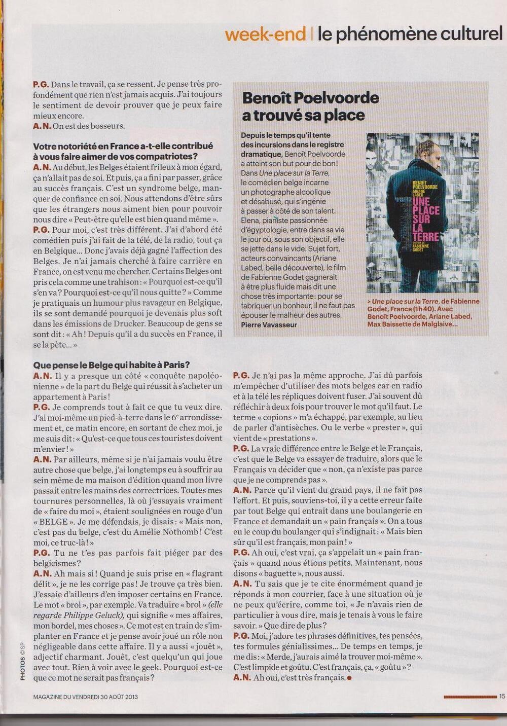 Interview d' Amélie Nothomb et Philippe Geluck
