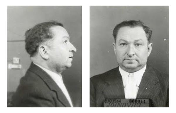 PALESTINE, 1947. Joanovici se rend et sable le champagne au quai des Orfèvres. Le chiffonnier milliardaire est accusé d'intelligence avec l'ennemi