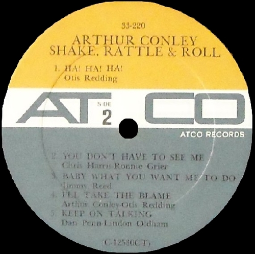 "Arthur Conley : Album "" Shake , Rattle & Roll "" Atco Records SD 33-220 [ US ]"