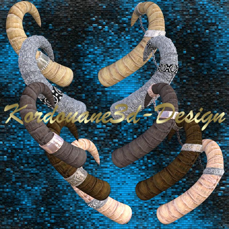 5 tubes de cornes (décoration image-png)