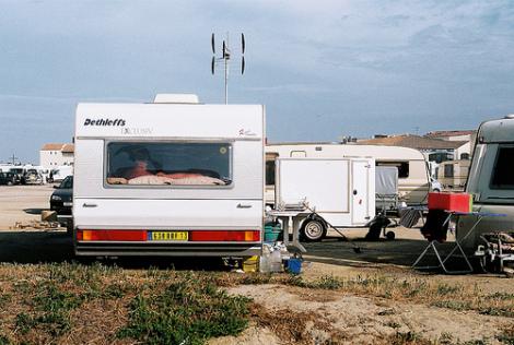 Camp tzigane (Kygp/Flickr).