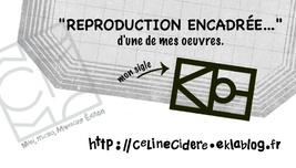 """carte """"repro encadrée"""" de Céline Cidère"""