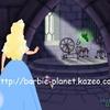 La méchante fée guide la princesse au dernier fuseau du château