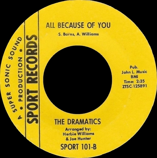 "The Dramatics : Album "" Whatcha See Is Whatcha Get "" Volt Records VOS-6018 [US]"