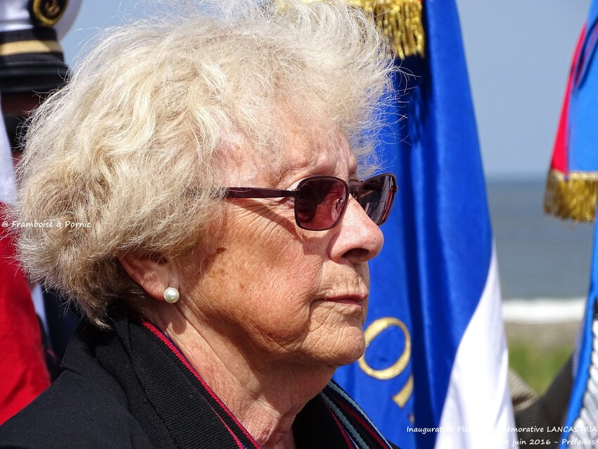 Inauguration Mémorial LANCASTRIA - 18 juin 2016 - Rescapée, elle avait 2 ans
