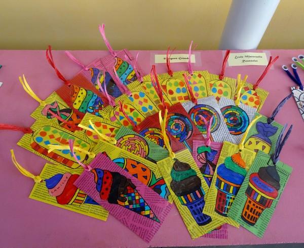 Pour la Journée de l'Ecrit, les élèves des écoles de Châtillon sur Seine ont réalisé de superbes marque-pages...