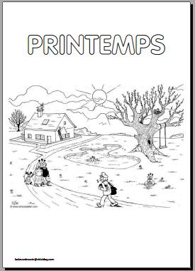 Coloriage Saison Printemps.Coloriage Des Saisons Pour La Maternelle La Classe D Eowin