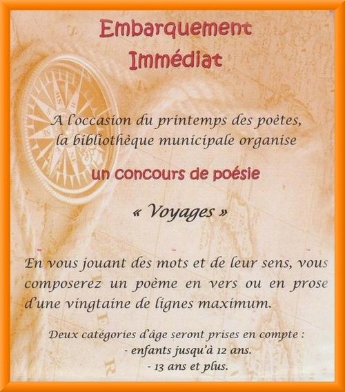 La Bibliothèque Municipale de Châtillon sur Seine lance un concours de poésie...