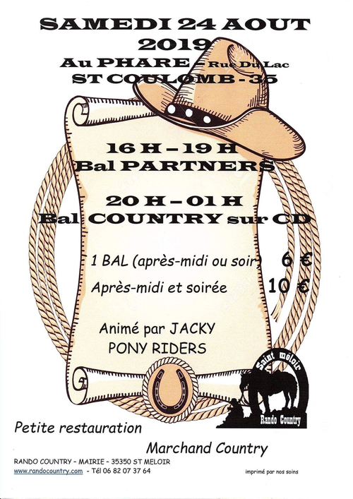 affiche pony riders 24-08-2019  st coulomb -35 anmé par jacky pony riders