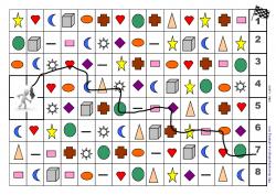 Le labyrinthe des couleurs et des formes