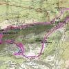 Carte itinéraire Soum de las Picarras et crête des Garrocs
