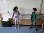 Spectacle de théâtre dans la classe